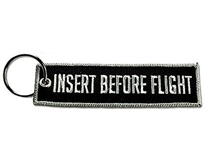 Tela de insertar antes de vuelo llavero Aviación etiqueta ...