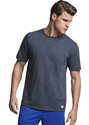 Russell Athletic Men's Essential Short Sleeve Tee, Black Heather, XXL 100 Cotton Essential T-shirt