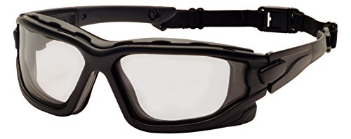 Pyramex SB7025SDT I-Force Sealed Safety Goggles with Temples, Strap and Light Gray Anti-Fog - Force Sunglasses