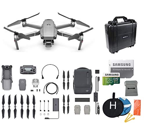 DJI Mavic 2 Pro Fly More Kit Combo Drone Quadcopter Bundle, Waterproof Hard Carrying Case, Landing Pad, 128GB SD Card Supports 4K Video