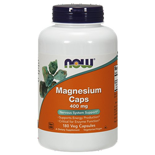 NOW Magnesium 400mg Capsules Pack