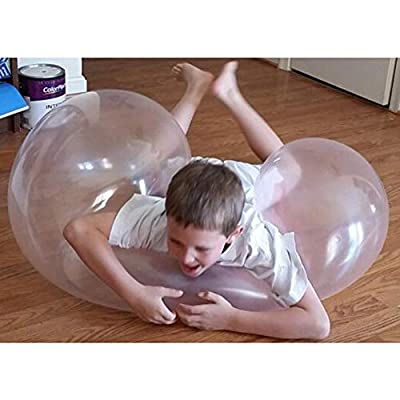 mickyshoes Beach Balloon Inflatable 43 Inch Giant Beach Ball Inflatable Ball Toy TPR Transparent Beach Bubble Ball Filled with Water Balloon: Sports & Outdoors