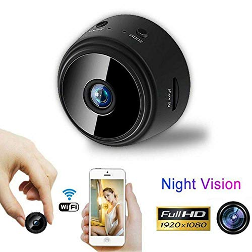 Wireless Mini Camera, WiFi Wireless Video Camera 1080P HD Small Home Security Cameras with 32G SD Card, for Car Home Outdoor Indoor Security Nanny Camera with Monitor Phone App (Black)