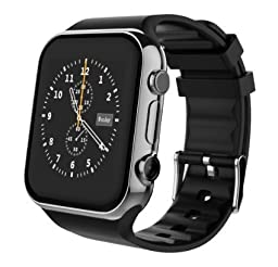 Scinex SW20 16GB Bluetooth Smart Watch GSM Phone for iPhone and Android - US Warranty (Silver/Black)