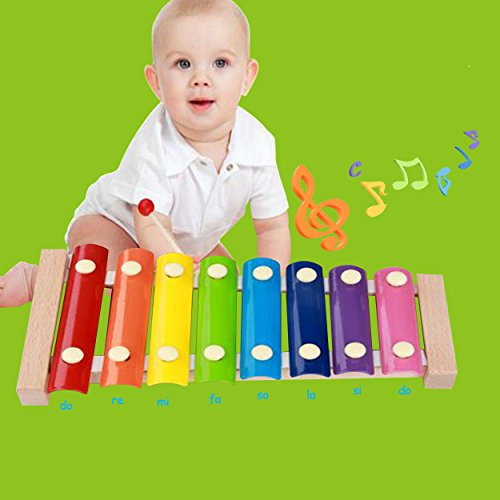 Kids Musical Instruments - Childom Musical Instruments Wood Xylophone for Kids Children, Child Wooden Music Shakers Percussion Instruments Tambourine Birthday Gifts Present with Carrying Bag by Childom (Image #7)