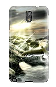 Galaxy Note 3 Case Cover - Slim Fit Tpu Protector Shock Absorbent Case (sunset Dreamer)
