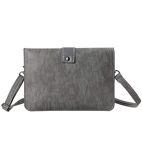 Crossbody Leather Buckle Gray Pack Lady HTC for pzZgExwq
