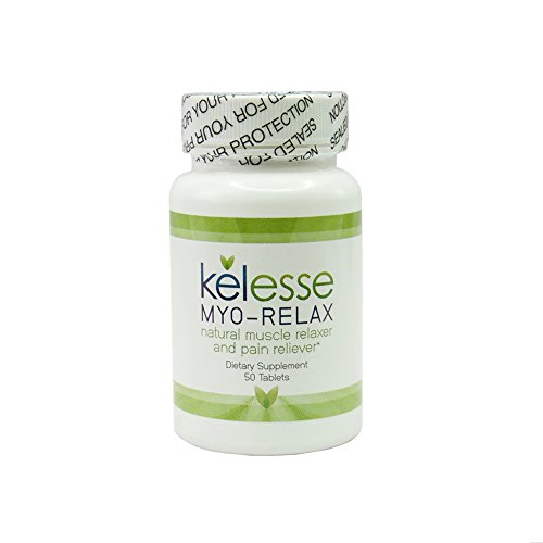 Kelesse Myo-Relax Natural Muscle Relaxer and Pain Reliever and Sleep Aid with Passion Flower Extract, Valerian Root Extract, Magnesium Gluconate & White Willow Bark 50 Count (1)