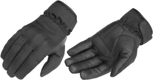 (River Road Mens Ordeal TouchTex Leather Motorcycle Gloves Black Medium M)