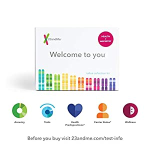 23andMe Health + Ancestry Service: Personal Genetic DNA Test Including Health Predispositions, Carrier Status, Wellness, and Trait Reports 2