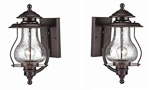 Acclaim 8201ABZ Blue Ridge Collection 1-Light Wall Mount Outdoor Light Fixture, Architectural Bronze - 2 Pack