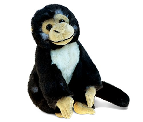 Puzzled Capuchin Monkey Super-Soft Stuffed Plush Cuddly Animal Toy - Animals / Wild Animals / Zoo Animals Theme - 12.5 INCH - Unique huggable loveable New friend Gift - Item - Capuchin Monkey