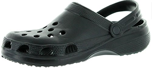 Mens Garden Clogs - Black - Size 10