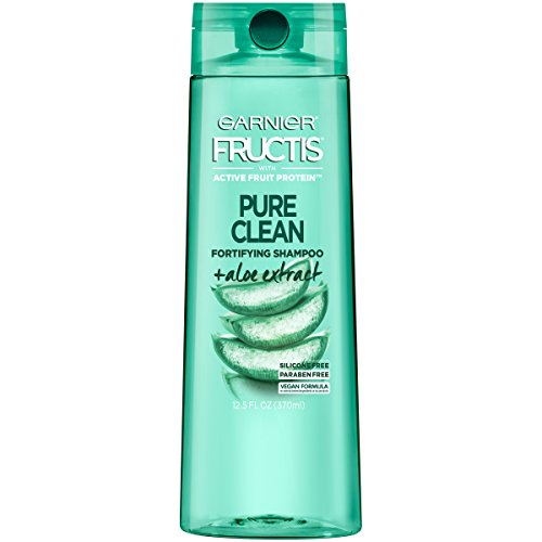 Garnier Fructis Pure Clean Shampoo, Paraben-Free Silicone-Free with Aloe Extract and Vitamin E, 12.5 Ounce Bottle (Best Drugstore Shampoo And Conditioner For Oily Hair)