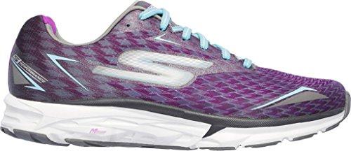 Skechers Go Run Forza 2019, Zapatillas de Deporte Exterior para Mujer CHARCOAL/PURPLE