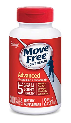Glucosamine & Chondroitin Advanced Joint Health Supplement Tablets, Move Free (200 count in a bottle), Supports Mobility, Flexibility, Strength, Lubrication and Comfort by Move Free (Image #2)