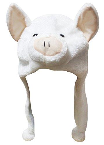 Petitebella White Pig Hat Animal Costume Unisex Free Size (One Size)