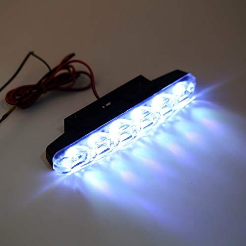 [해외]모 라이트 안개 등을 수행 하는 제 논 화이트 6 슈퍼 브라이트 LED DRL 매일 두배 / Driving Light Fog Lamp Run Xenon White 6 LED Super Bright DRL Twice As Daytime
