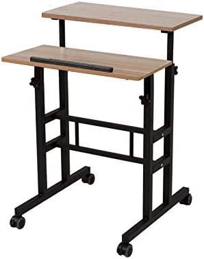Cheap SDADI 2 Inches Carpet Wheels Mobile Standing Desk Stand Up Desk Height Adjustable Home Office Desk home office desk for sale