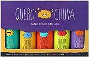 Kit Coquetel de Cachaça Quero Chuva, 5 Unidades de 50ml