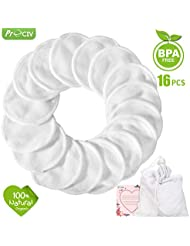 Makeup Remover Pads Reusable 16 Packs Bamboo Cotton...