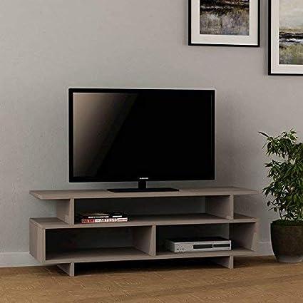 Decortie By Homemania Puerto TV, Mueble para la televisión Derecho, Moka Claro: Amazon.es: Hogar