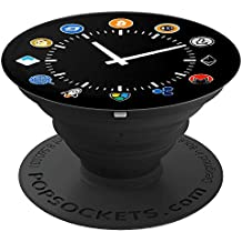 Crypto Currency Watch Time For Choice Bitcoin Pop Socket - PopSockets Grip and Stand for Phones and Tablets