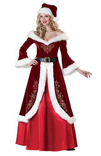 Party City Mrs Claus Costume (Women's Christmas Costumes Mrs. Claus Deluxe Adult Dress Adult Cosplay Outfit X-Large)