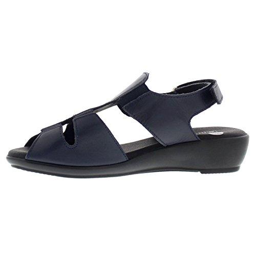 Sandali In Pelle Bianca Arcopedico Donna Blu