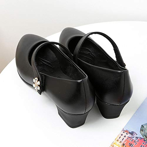 Professionnelles Mary Plnxdm Chaussures Compensés Femme School Black De Danse Talons Respirants Jane qC1aHw