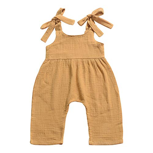 Weixinbuy Toddler Baby Girls Boys Strap Plain Summer Overall Romper Clothes Jumpsuit 0-3 Years