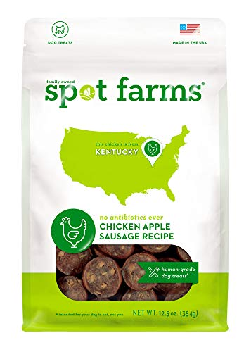 Cheap Spot Farms All Natural Human Grade Dog Treats, Chicken Apple Sausage, 12.5 Ounce