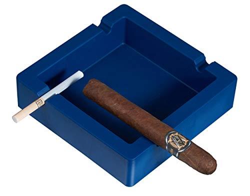 (Visol Elora Silicon Cigar Ashtray-Navy Blue)