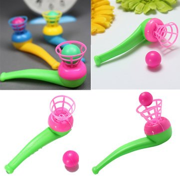 10PCS Children Air Suspension Blow Pipe and Ball Toy Blowing Bag Fillers Toy for Kids Wedding Outdoor Sport Loot Random Color ()