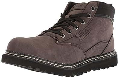 Fila Men's GRUNSON Fashion Boot, Espresso/Black/Dark Silver, 6.5 Medium US