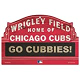MLB Chicago Cubs 11-By-17-Inch Go Cubbies Wood Sign