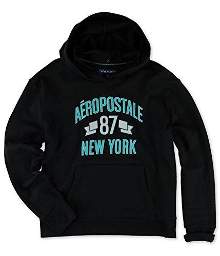 (Aeropostale Womens New York '87 Hoodie Sweatshirt, Black, X-Large )