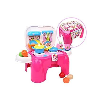 Amazon.com: Kitchen Chair Play Set, Play Kitchen Set, Toy ...
