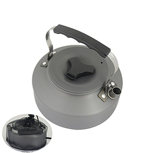 Price comparison product image 1.1L Portable Ultra-light Outdoor Hiking Camping Picnic Water Kettle Teapot Coffee Pot