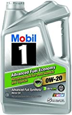 Mobil 1 0W-20 Advanced Fuel Economy Full Synthetic Motor Oil, 5