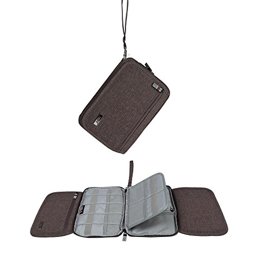 BUBM Universal Cable Organizer Electronics Accessories Case USB Drive Shuttle/ Healthcare & Grooming Kit Wallet Bag for iPhone X 6 6s 7 Plus ,8 Plus for Samsung Galaxy S7 Edge S8 by BUBM