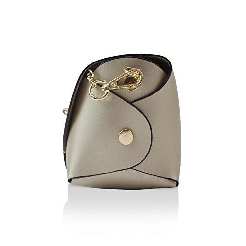 Clutch Palle Glamexx24 Borsa Donna a vera Italy mano 1 Made 002 1 in Casual elegante 14 002 tracolla da Oro a Borsetta EA7FAqx