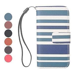compra Stripe patten cuero de la PU caso completo para iphone 5/5s (color surtidos) , Gris