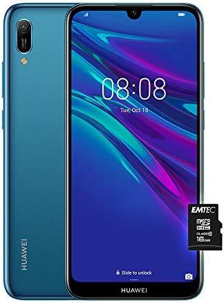 HUAWEI Y6 2019, Smartphone con 32 GB, Display 6.09″ HD+, Processore Quad Core, Blu [Versione Italiana]