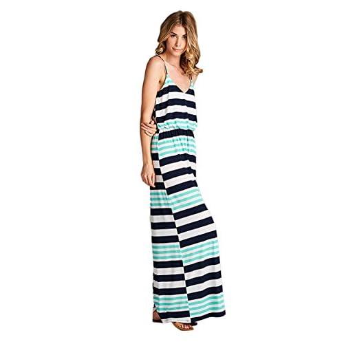 2664ee048f hot sale Vanilla Bay Striped Spaghetti Strap Maxi Dress - s-c-r-a-p ...