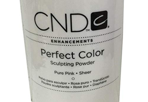 Creative Nail Perfect Color Acrylic Sculpting Nail Powder PURE PINK SHEER 32 oz (Solarnail Liquid)