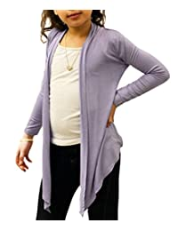 Big Girls' Long Sleeve Flyaway Cardigan Sweater