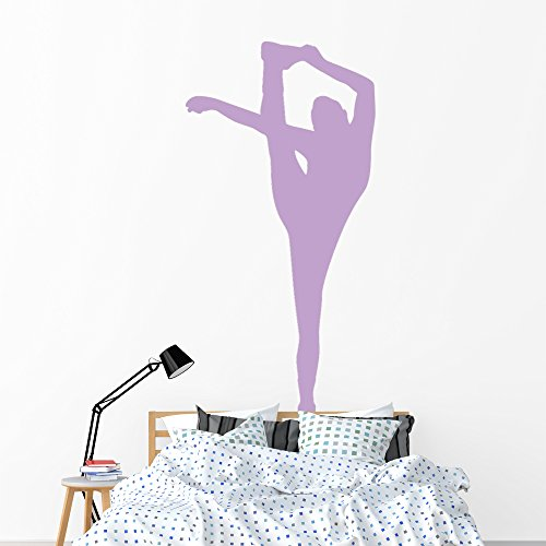 Wallmonkeys Purple Flexible Cheerleader Wall Decal Peel and Stick Graphic (72 in H x 37 in W) WM17923