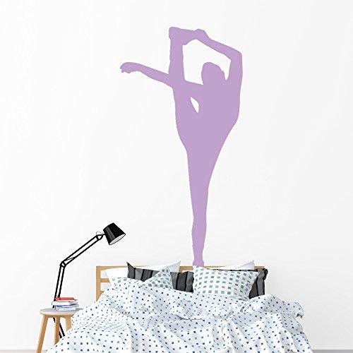 Wallmonkeys Purple Flexible Cheerleader Wall Decal Peel and Stick Graphic (72 in H x 37 in W) WM17923 ()