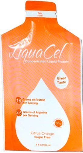 LiquaCel Liquid Protein 1oz Packets (30) Orange by Global Health Products